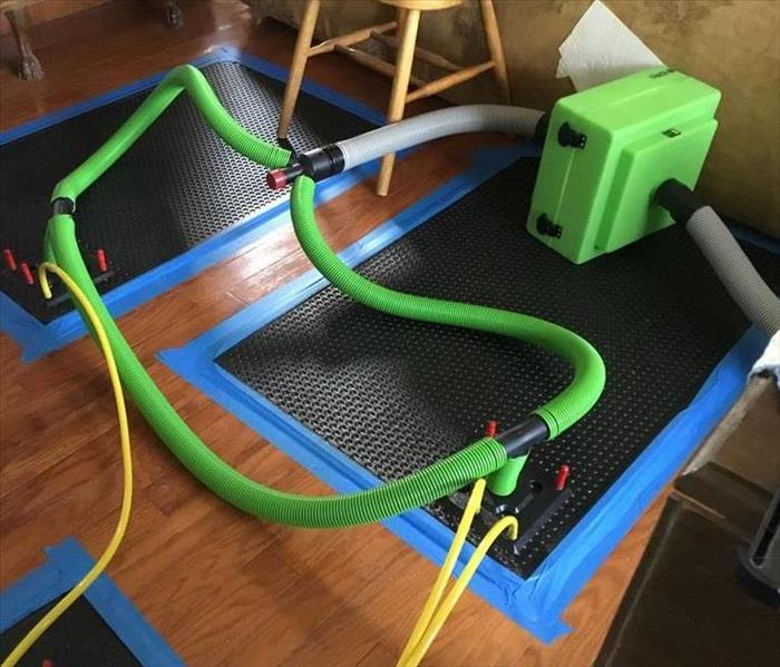 Inject-A-Dry System for Drying Hardwood Floors